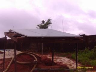 solar panels on customer made rack