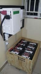 Schneider Inverter and batteries in battery box