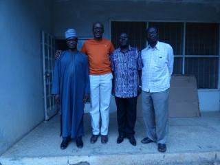 Handing over to National Metallurgical Development Center Jos